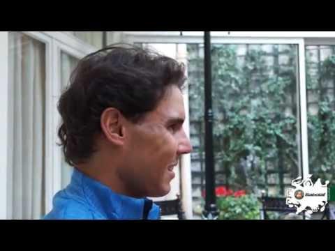 Rafael Nadal fan interview at #RG14