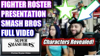 SMASH BROTHERS FULL FIGHTERS REVEALED - REACTION NINTENDO E3