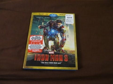 Iron Man 3 Blu-Ray/DVD Combo Review/Unboxing (HD)