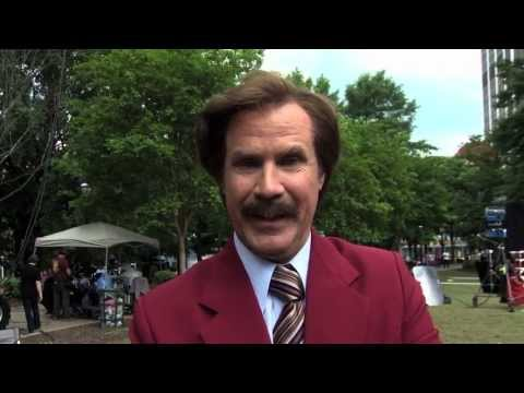 Ron Burgundy Congratulates Cancer for College
