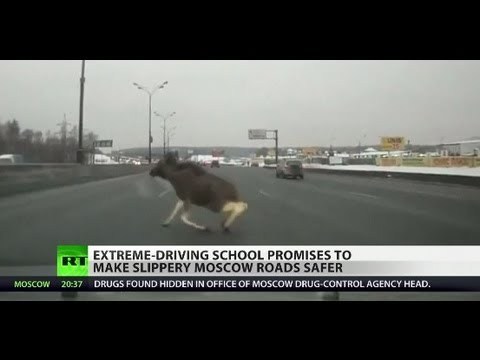 Crazy Russian Driving: 'Brakes invented by a coward?'