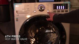 How To Put Your LG Front Load Washer In To Self Test Mode/ Diagnostic Mode