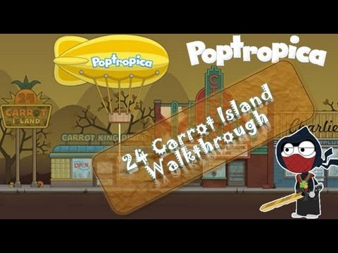 how to finish 24 carrot island on poptropica