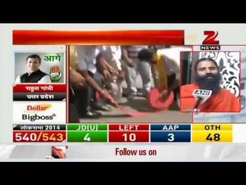 Baba Ramdev congratulates Narendra Modi for big win
