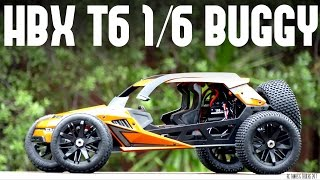HBX T6 1/6 Scale HUGE RC Buggy - Unboxing and In-Depth Look
