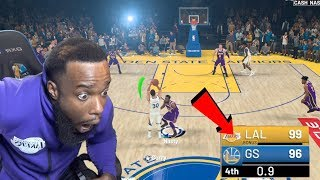 Stephen Curry Down By 3 HALF COURT SHOT! Lakers vs Warriors NBA 2K19 Ep 98