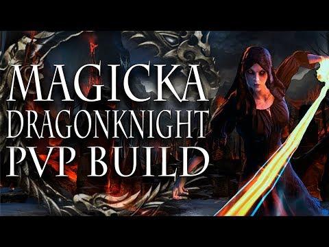 ESO PVP   Magicka Dragonknight Solo Build   Horns of the Reach