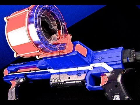 Nerf Guns Review! Nerf N-Strike Elite Rampage Blaster. Blast 2 darts ar once! (Part 1)