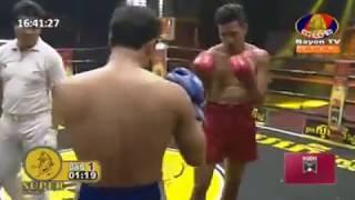 Lao Chantrea vs Orono(Thai) | Kun Khmer boxing 15-09-2018