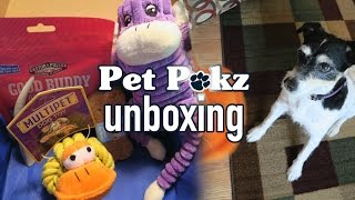 Pet Pakz Monthly Subscription Box Unboxing
