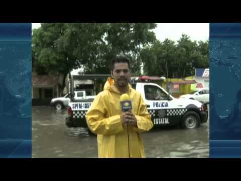 Se registran inundaciones en Tuxpan