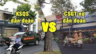 KSQS vs nữ CSGT dẫn đoàn, ai đi được nhanh hơn? - Military Police vs Traffic Police