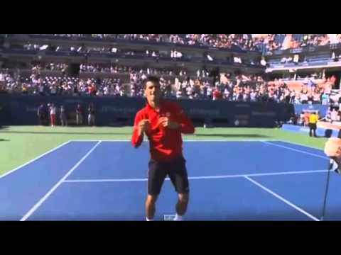 Novak Djokovic Funny Dance US Open 2014