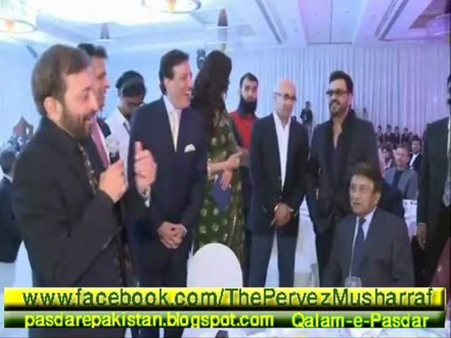 Farooq Sattar & Pervez Musharraf ( Saltanat سلطنت Premiere For Pakistani Movie in Dubai )