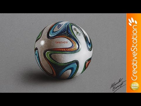 Brazuca ball - Speed drawing | CreativeStation GM