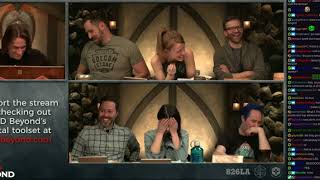 Sam Riegel of Critical Role is often a source of puns (he's talking to a character named Fjord)