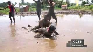 kannada  kabaddi in mud game show very funny by prakash chiru