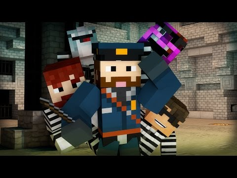 Minecraft Mini-Game: COPS N ROBBERS! (SGT MUFFLEBUNS & THE CARROT TOPPED SMUDGEN) /w Facecam