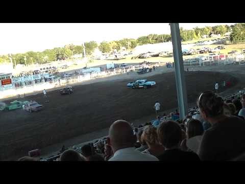 this is the outlaw class heat at the logan county colorado demo derby this year.