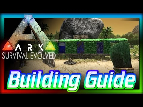 'How to Build in ARK: Begginers Guide #2' (ARK: Survival Evolved) Build a House!