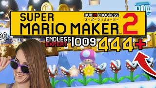 STRAIGHT TO THE TOP! ENDLESS EXPERT 009 | 444+// SUPER MARIO MAKER 2