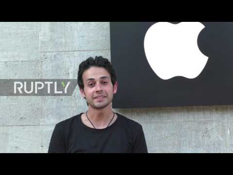 Germany: Berlin's Apple enthusiasts camp outside store ahead of iPhone 7 launch