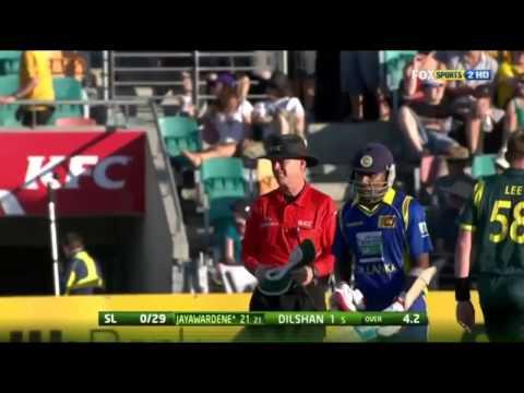 Mahela Jayawardene Six vs Brett Lee - Awesome Sound of the Bat!