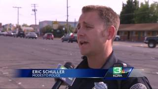 Modesto police break up illegal car sideshow after parade
