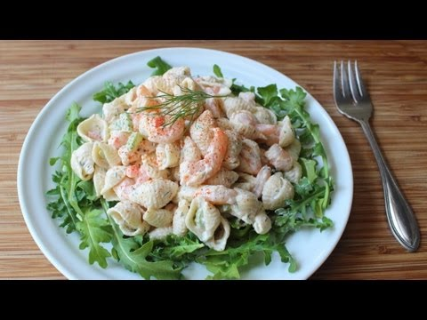 Shrimp & Pasta Shells Salad – Cold Macaroni Salad with Shrimp Recipe