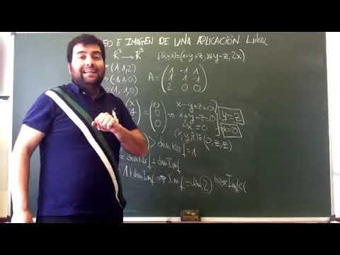 Núcleo e imagen de una Aplicación Lineal // Kernel and Image of a Linear Transformation.