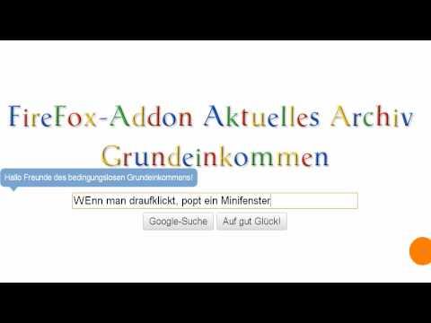 FireFox Addon - Aktuelles Archiv Grundeinkommen