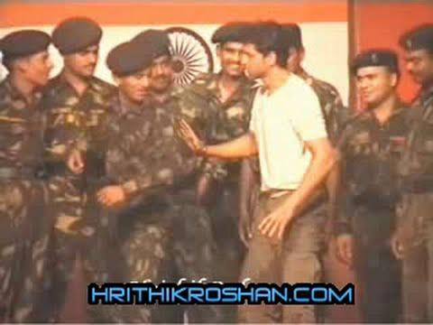 Hrithik Roshan at Pakistan Border hrithikroshan.com