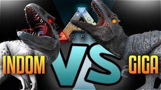 Ark Dino Battles - INDOMINUS REX VS GIGANOTOSAURUS (Ark Indominus Rex Nemesis Mod Vs Giga Gameplay)