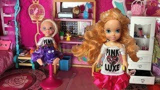 Anna and Elsa Weekend Routine! School Over! Family Sleeps In & Gets ready to go out! Toddlers - Toys