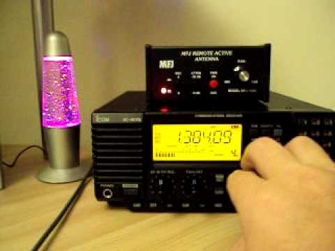 www.RadioScannerAntenna.com //  RADIO SCANNER ICOM IC-R75 TEST #3