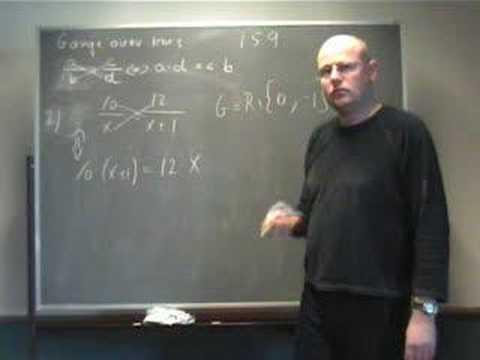 ligninger med brøker hvordan gør man