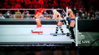 Wwe 2k16 Eva Marie & Mandy Rose Vs. Lana & Maryse