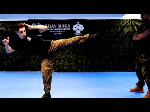 KRAV MAGA TRAINING • How to use Side Kicks in a Real Fight Image 1