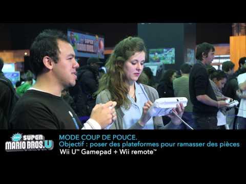 New Super Mario Bros. U - Prise en main à la Paris Games Week - défis à 2
