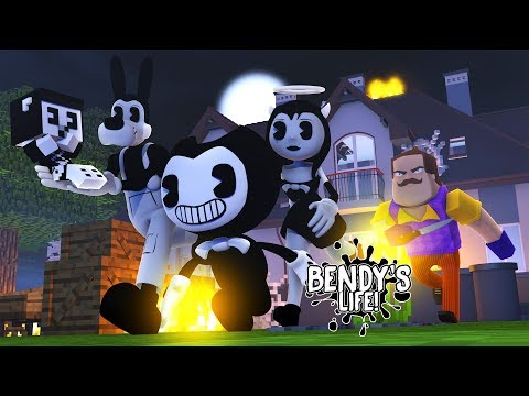 Minecraft BENDY'S LIFE (EP.13) BORIS THE WOLF BENDY & ALICE ANGEL SAVE THEIR BABY FROM THE NEIGHBOUR