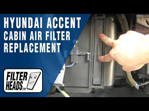 Cabin air filter replacement- Hyundai Accent