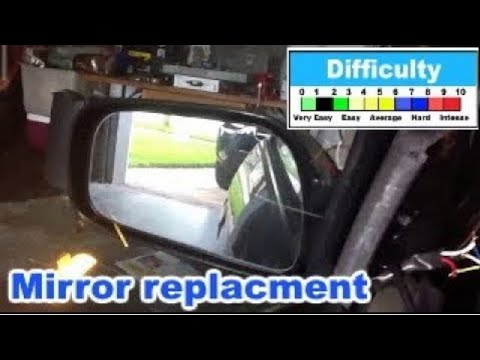 Camry 1997 1998 1999 2000 2001 Mirror replacement