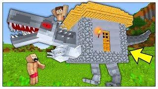 COSTRUIAMO E DIFENDIAMO LA NOSTRA CASA DINOSAURO! - Minecraft ITA