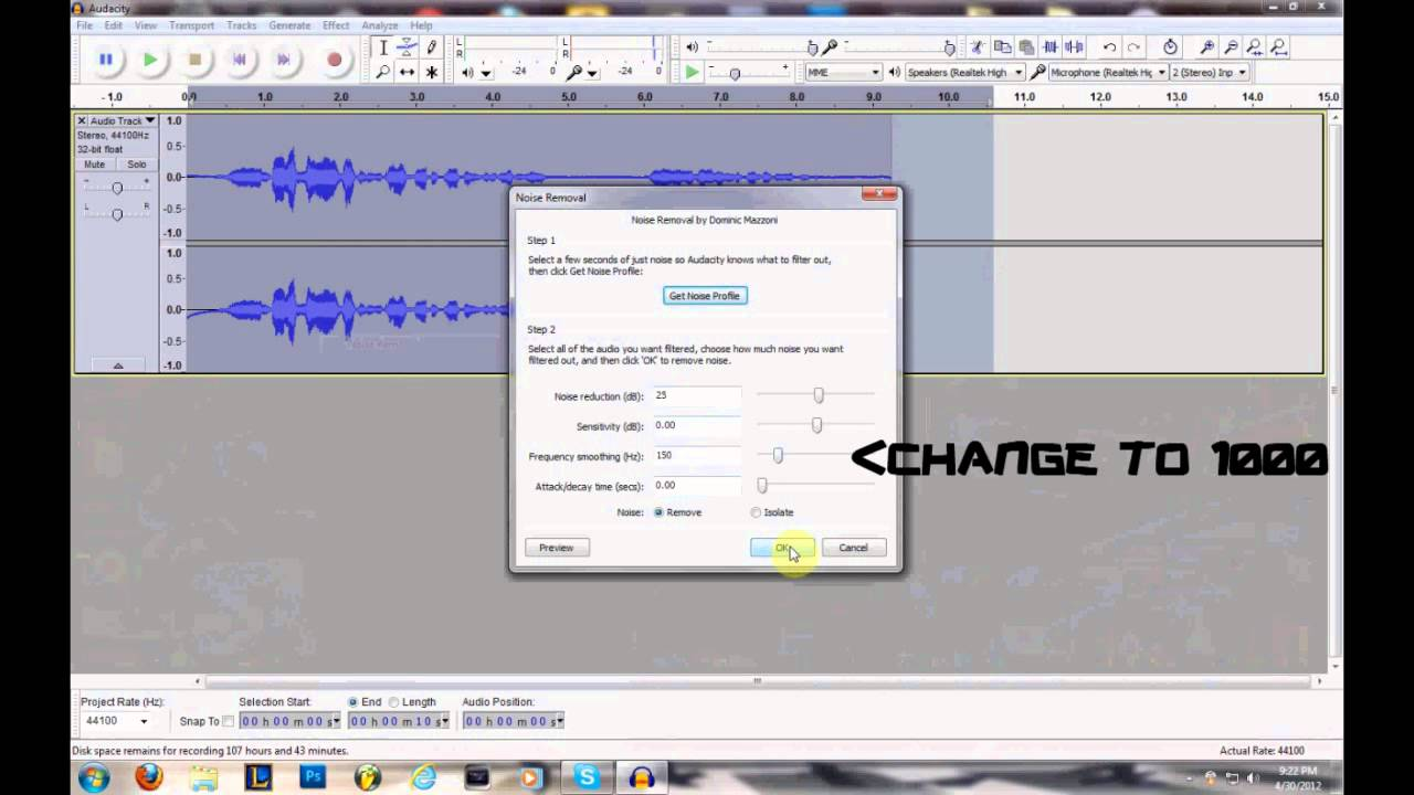 how to get rid of mic background noise youtube