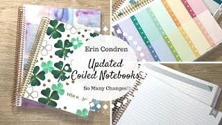 Erin Condren Updated Coiled Notebooks | Comparing Old & New Versions | So Many Changes!! |