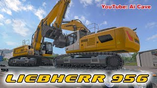 Farming Simulator 2017 Mods - Excavators LIEBHERR 956 | KENWORTH & CHEVROLET trucks
