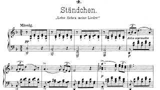 Schubert Ständchen Serenade Piano Solo Version With Score