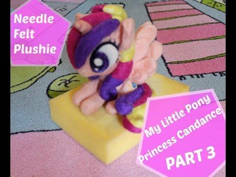How To - Princess Candance needle felt pony plush PART 3 - TUTORIAL LANA CARDATA