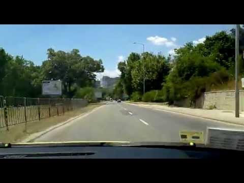 Road from Golden Sands to the Varna Mall (Bulgaria)