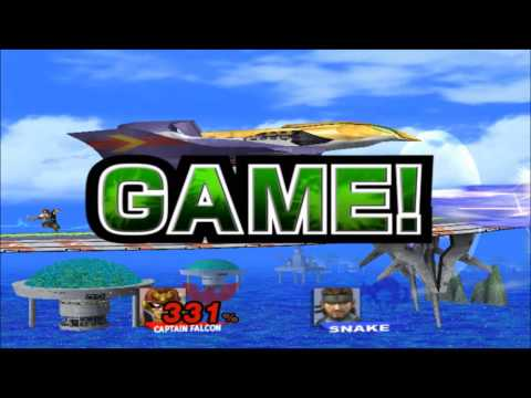 SSBB: Captain Falcon vs. Snake Combo-Match [TAS] Outtakes